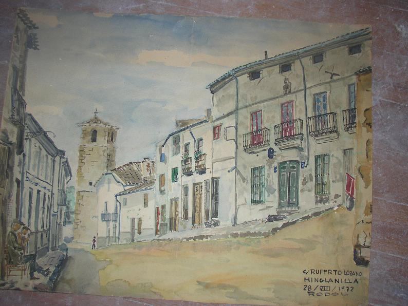 C.Ruperto Lozano con edificio de la antigua telefónica-dib del autor