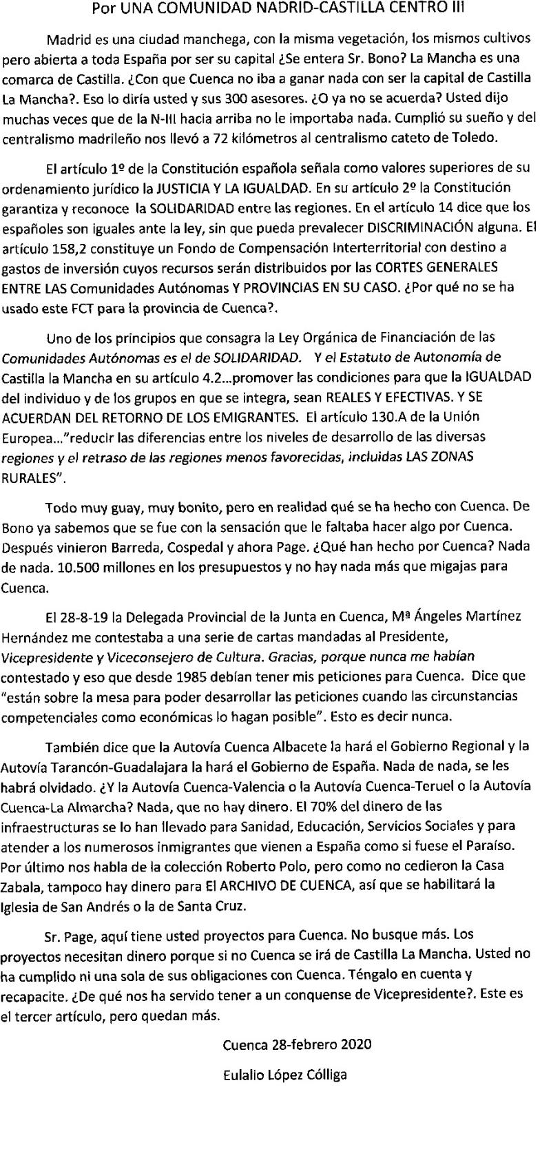 ELC.-Por una Comunidad Madrid-Castilla Centro. III-2